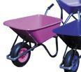 Pink wheel barrow